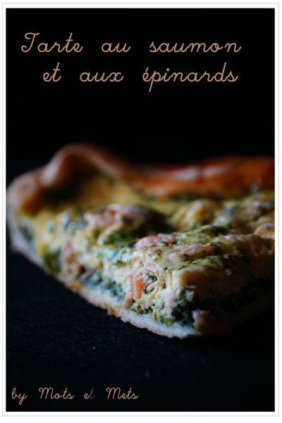 Tarte aux épinards et saumon 2