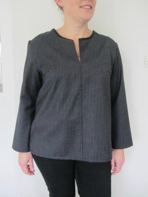 tunique rayée lainage
