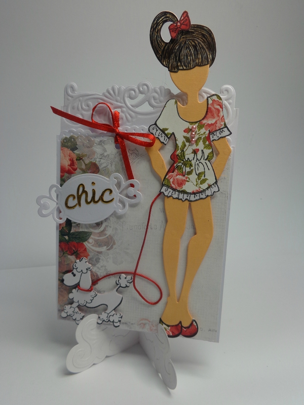 "Carte chevalet ""Doll chic"""