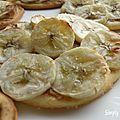 Tartelettes sablées aux bananes (ou pommes) et speculoos