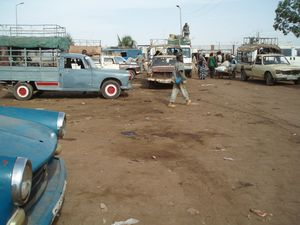 Gare routière de taxis-brousse Mopti Mali