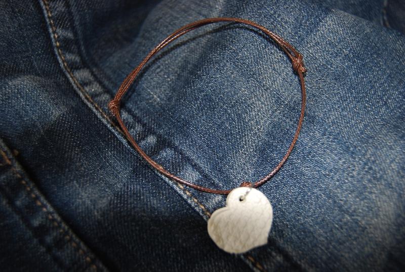 coeur imprimé coulissant brun (dispo)