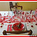 TABLE SAINT-VALENTIN 2013 + MENU