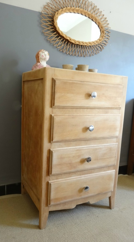 Mini commode annees 60 profil