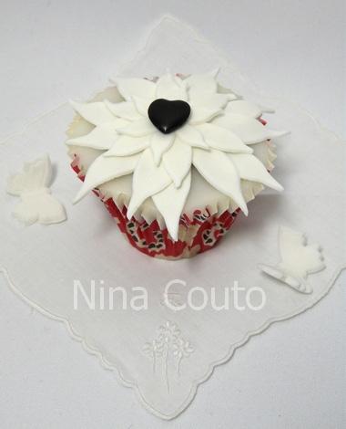 Cupcake coeur noir