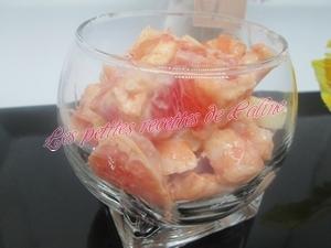 Salade de crevettes et pamplemousse, sauce rose19