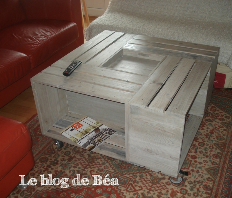 Pas à pas  table basse bar  Le blog de Béa ~ Table Basse En Caisse En Bois