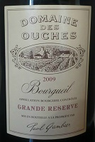 ouches bourgueil 2009