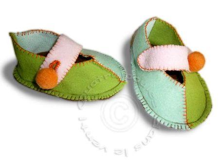 chausson-babies-vertes2
