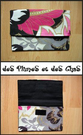 pochette_rose, creation textile, des plumes et des chas, couture, fait main, fanny callipel