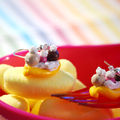 Boucles d'oreille banana split