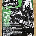 Fiche promotionnelle japonaise-The Black Star Tour 2011