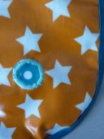 Bavoir orange étoiles Axel (2)