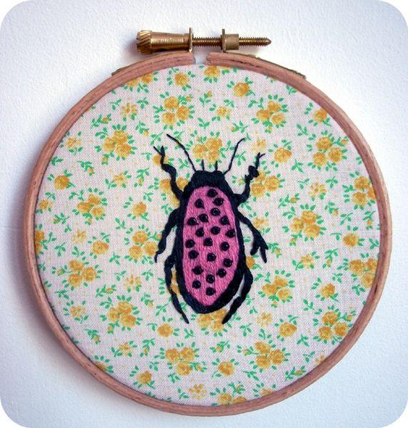 insecte brodé 2