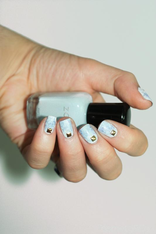 nail art marbre violet bleu-4
