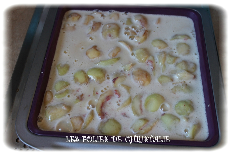Clafoutis pêches 6