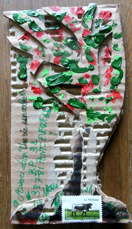 Mail art Arbre