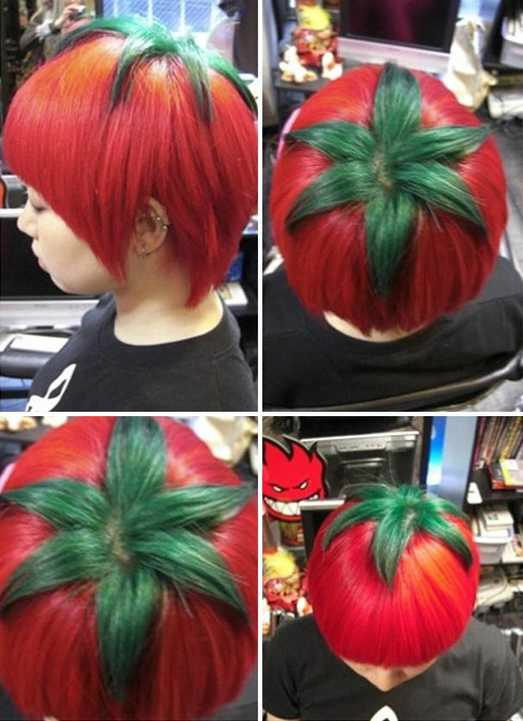 cheveux tomate