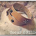 Bracelets cuir doubles cloutés
