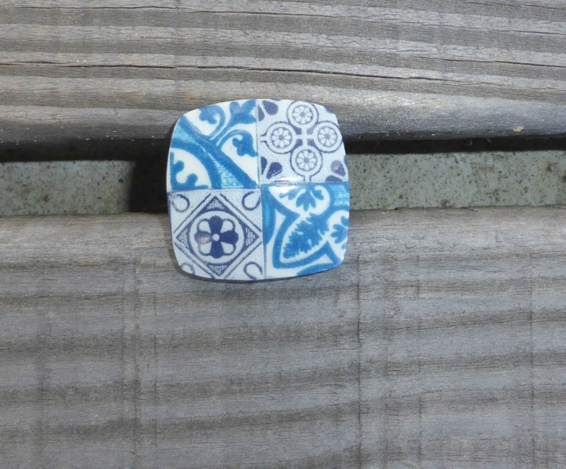 SOLY CAT-BAGUE EFFET FAIENCE AZULEJOS