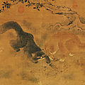 Cats at play, shang hsi, ming dynasty, hanging scroll