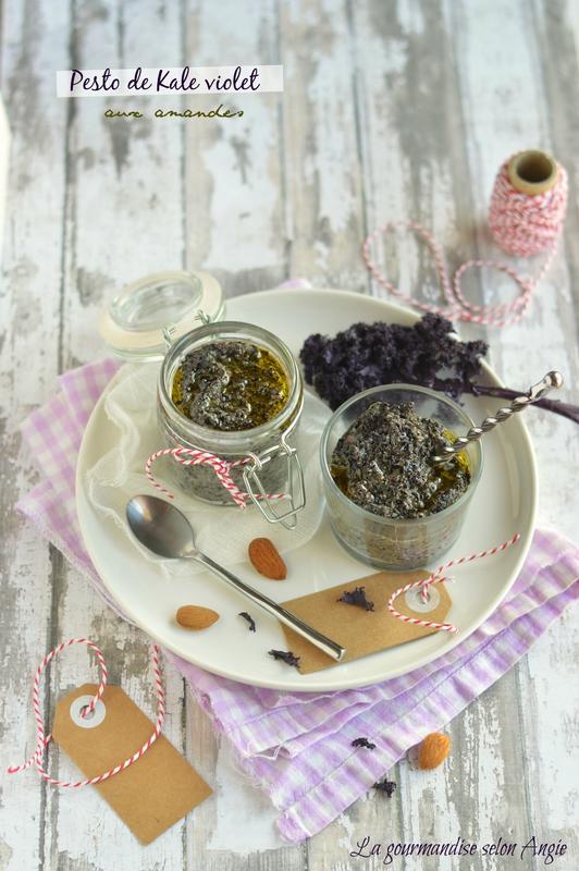 recette de pesto de kale violet vegan