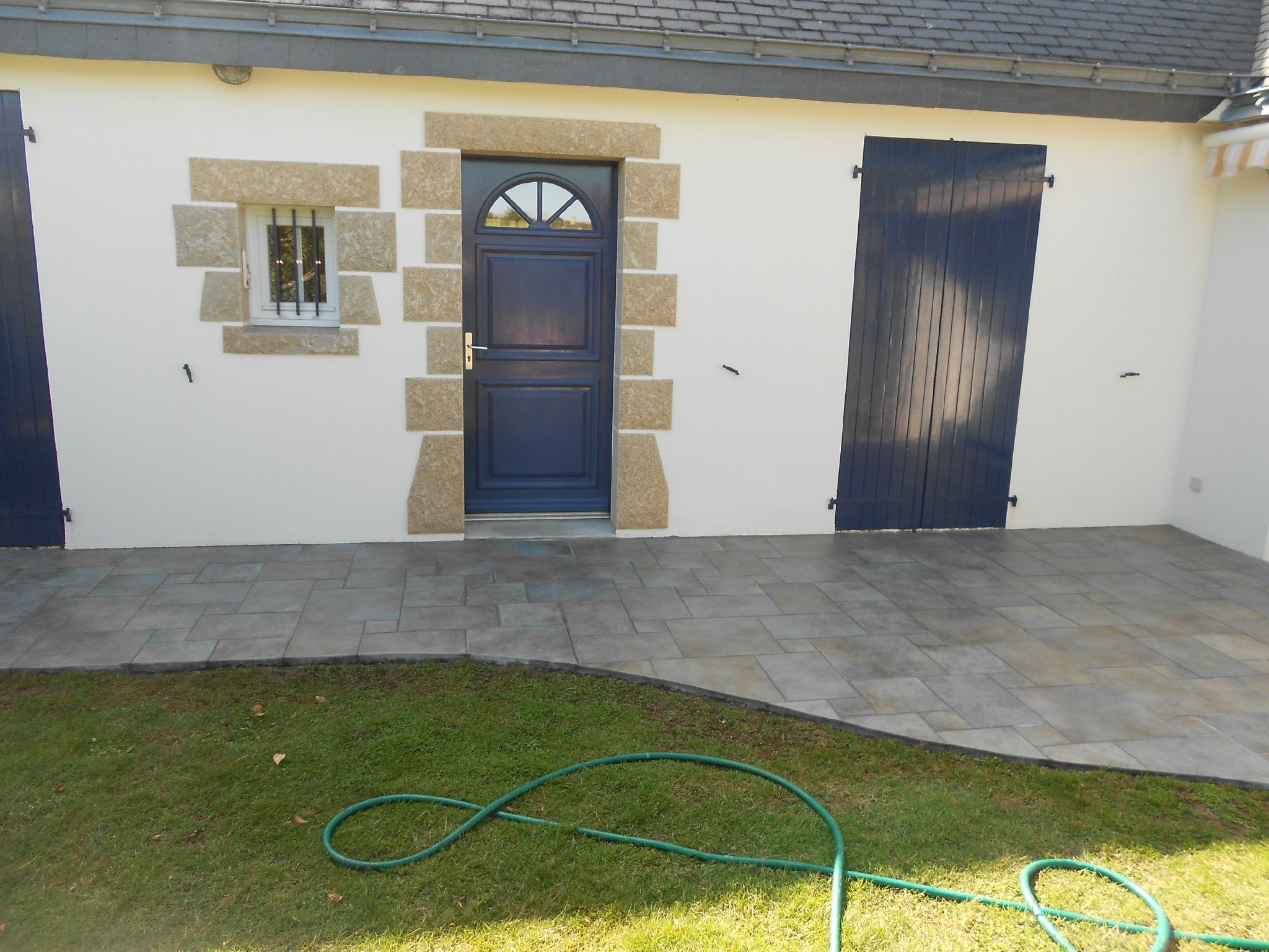 Remplacement ancien dallage par du carrelage en 4 formats for Pose carrelage 4 formats