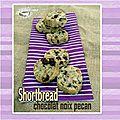 Shortbread chocolat & noix de pecan (sablé écossais sans oeuf)