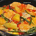 Curry rouge de poisson