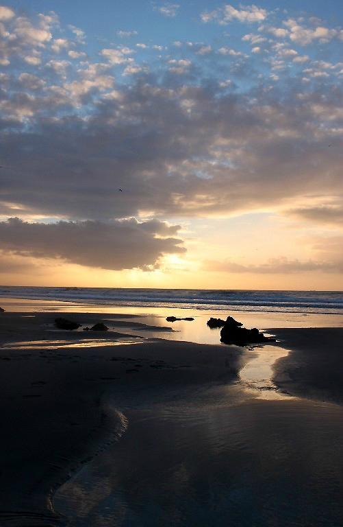 14-Normandie - Etretat, plage, coucher de soleil_0601