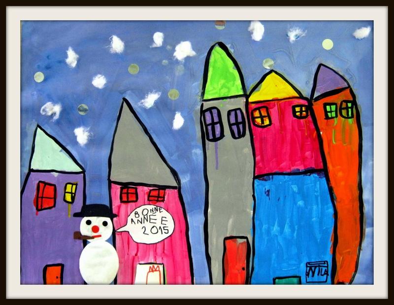 185_Noël et Nouvel an_Le village sous la neige (8)