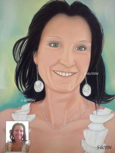 Portrait aux pastels d'après photo