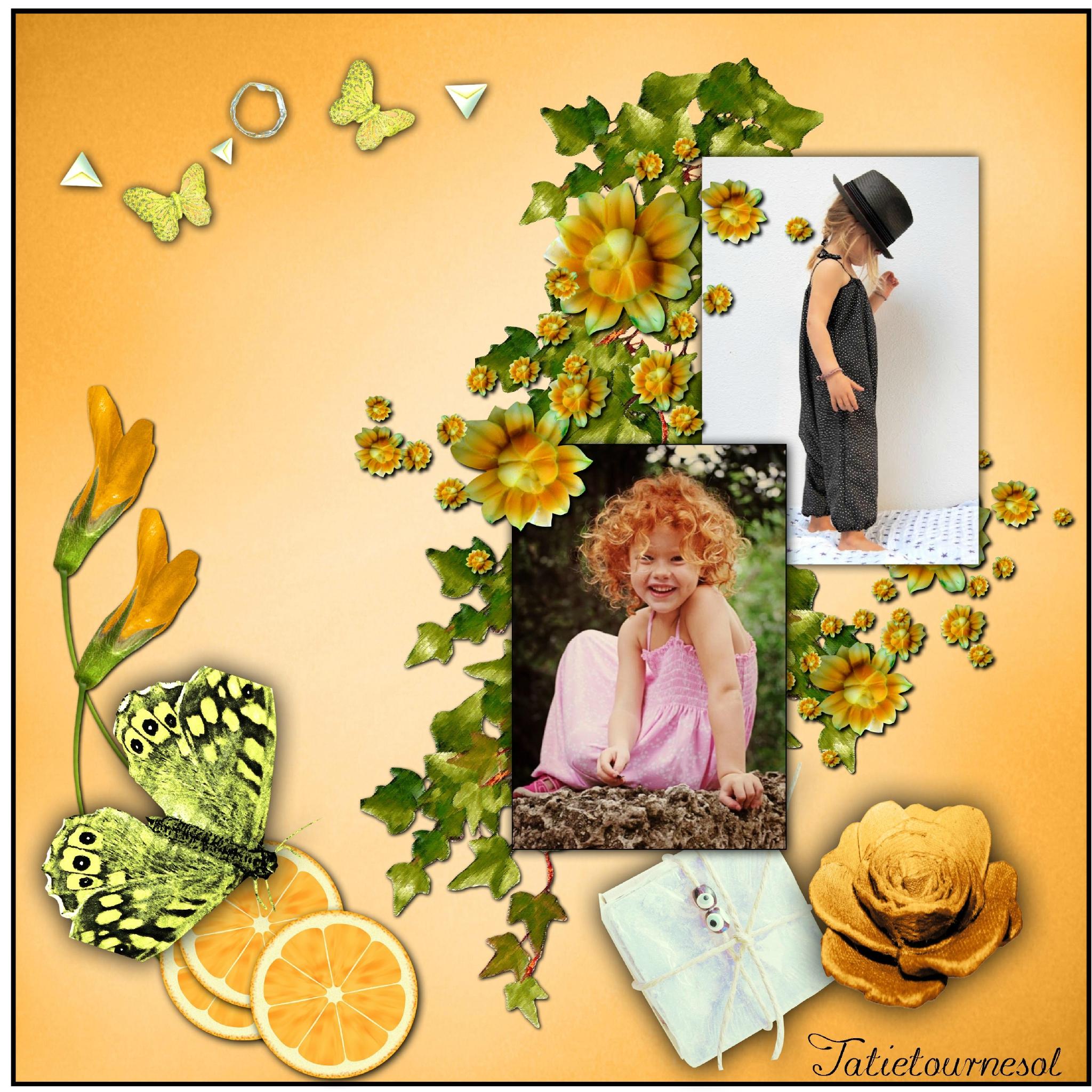 * Une page vitaminée à l'orange