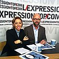 Frederic fougerat et anne-laure sanguinetti a l'expression top com