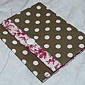 78. pochette à cartes-toile enduite taupe-liberty rose