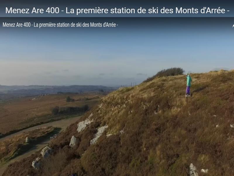 station de ski en bretagne menez are 400