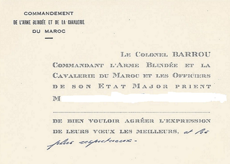 carte Colonel BARROU