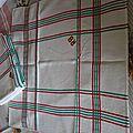6 serviettes monogrammes rb