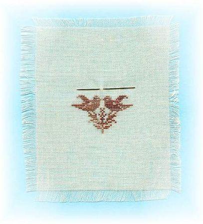 Miniature brodé en soie '' Eterna'' sur toile '' Polyester '' 22 fils