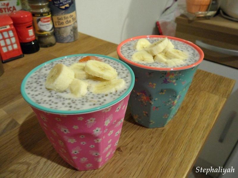 Chias pudding et banane - 25 juillet 2016