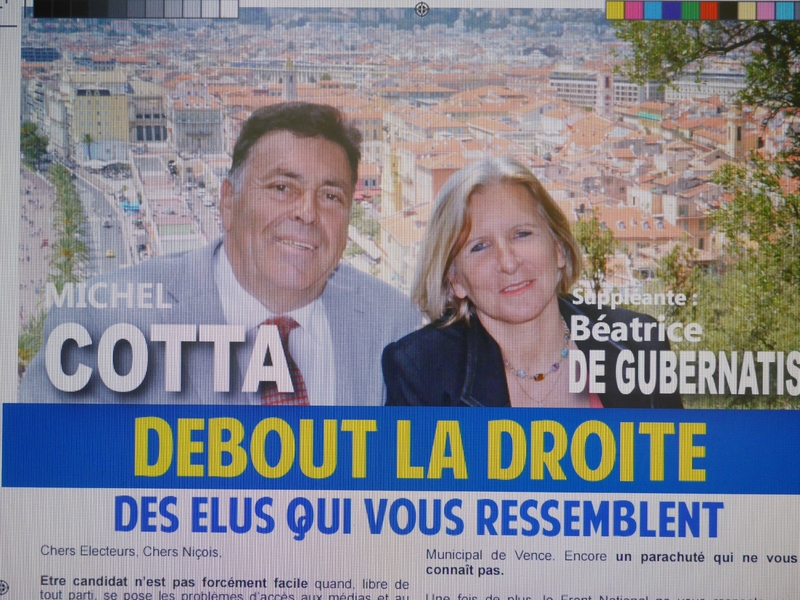 BEATRICE ET MICHEL COTTA SUR LA 1ère CIRCONSCRIPTION DE NICE (1)