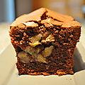 Cake au chocolat banane demie séchée et gingembre un mix de recettes