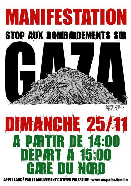 affiche manif gaza