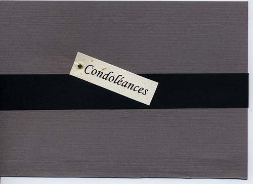 Carte de condoléances (2005)