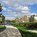 Parc Auzelle et nouveaux logements sociaux et privés.