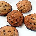 Cookies classiques aux ppites, recette amricaine