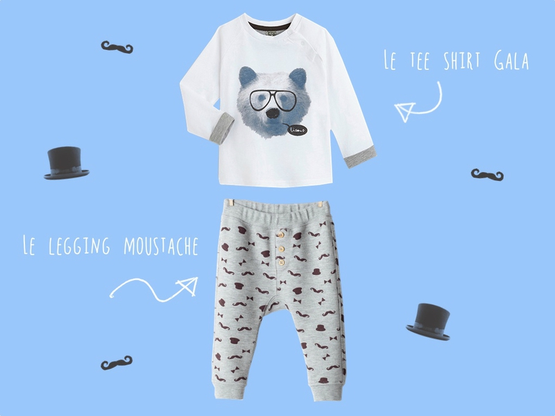 Look legging moustache