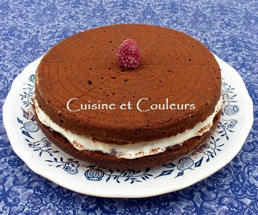 gâteau fourré ricotta groseilles