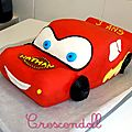 • gâteau cars : flash mc queen 3d •