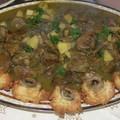 Curry d'agneau sablés à la banane